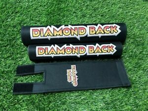 Old School BMX DIAMOND BACK Pad Re Made Sets frame handlebar stem black