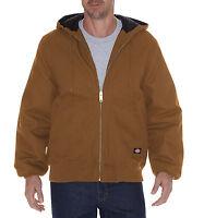 Dickies Men's Brown Rigid Duck Hooded Jacket Tj718bd