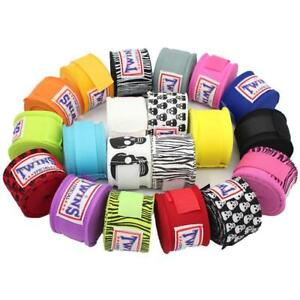 Boxing-Wrist-Wraps-Fist-Hand-Bandages-Punching-Protecting-Handguards-Pair-Gloves