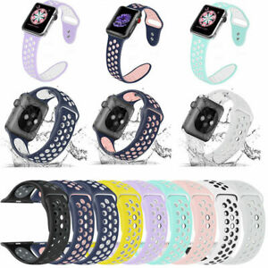 Silicone-Sport-Loop-Bracelet-Watch-Band-Strap-For-Apple-iWatch-Series-1-2-3-4