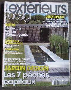 Détails sur REVUE - MAGAZINE * EXTÉRIEURS DESIGN * n° 25 Jardin Design 7  Péchés Capitaux !!