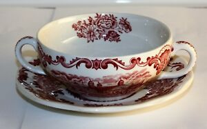 Details about Enoch Wedgwood Tunstall Royal Homes of Britain 3 Soup Dish  and Lower Red