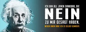 Albert Einstein Collage Saying 25 Tin Sign Shield 10 X 27 CM K1583