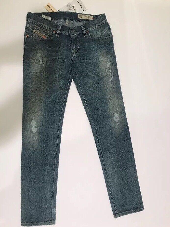 Diesel Getleg Jeans Leg Womans bluee Pants Slim Skinny Stretch Size 26  30