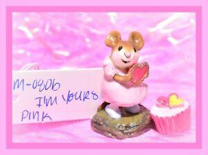 Wee-Forest-Folk-M-080b-I-039-m-Yours-Pink-Glitter-Heart-Valentine-Retired-WFF