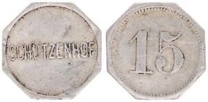 15 Pfennig ohne Jahr Leipzig Schützenhof ss 58154