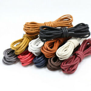 1Pair-Waxed-Coloured-Shoelaces-Faux-Leather-Shoe-Lace-Round-Strings-Martin-Boots