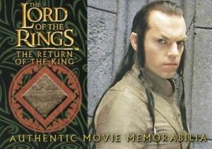 Lord-of-the-Rings-Return-of-King-Elrond-039-s-Bronze-Silk-Robe-Costume-Card