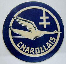 Insigne ou vignette papier RESISTANCE MAQUIS FFI CHAROLLAIS WWII 1945 ORIGINAL