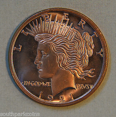 PEACE DOLLAR 1oz .999 FINE COPPER ROUND