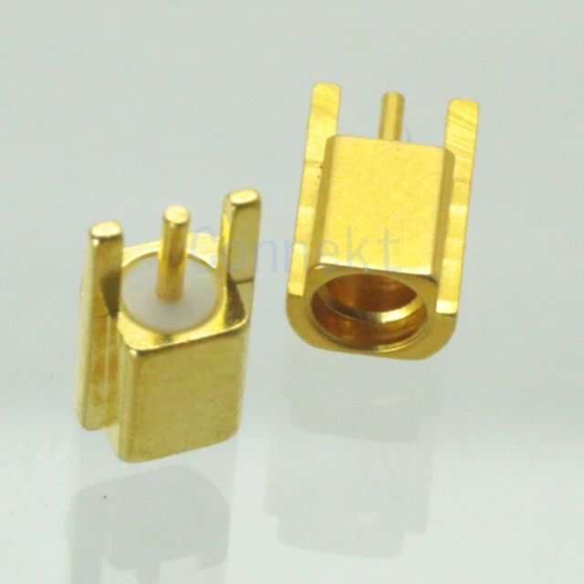 1pce MMCX female solder for PCB edge surface mount RF connector