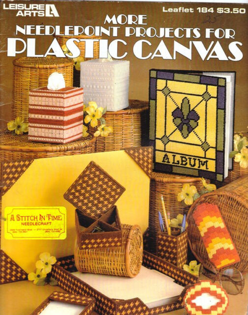 Leisure Arts Leaflet 184 MORE NEEDLEPOINT PROJECTS FOR PLASTIC CANVAS 16 Project
