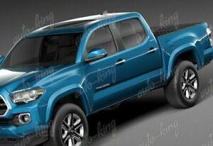 For 2014-2019 Toyota Highlander Chrome Door Handle Cover Cap Trim W//Smart DRS