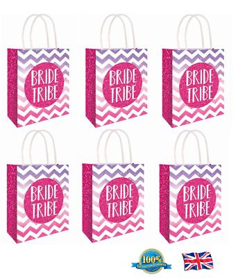 C51 395 6 x HEN PARTY BAG Printed Paper Bag WEDDING Gift Bag Hen Night Bags