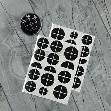 Set bmw emblema logotipo pegatinas 1er 2er 3er 4er m3 x1 x3 x4 x5 negro brillante