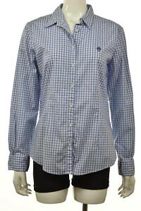 Brooks-Brothers-Red-Fleece-Womens-Top-Size-12-Blue-Checkered-Button-Up-Blouse