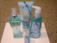 Lot Of 4 Dancing Waters Bath Body Works Gift Set 4 Piece