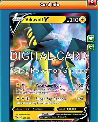 PTCGO in game card strong charge - for the Pokemon TCG Online Vikavolt