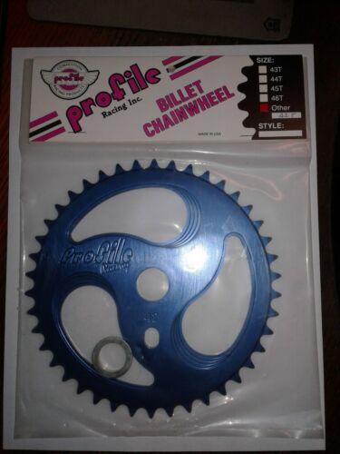 NOS Profile RIPSAW 2 42T Sprocket BLUE Anodized BMX Chainwheel Mid School Billet