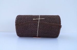 "Dyed 5 Yards Orange BURLAP JUTE Mesh Ribbon Roll 5.5/"" x 15/'  Natural Unwired"