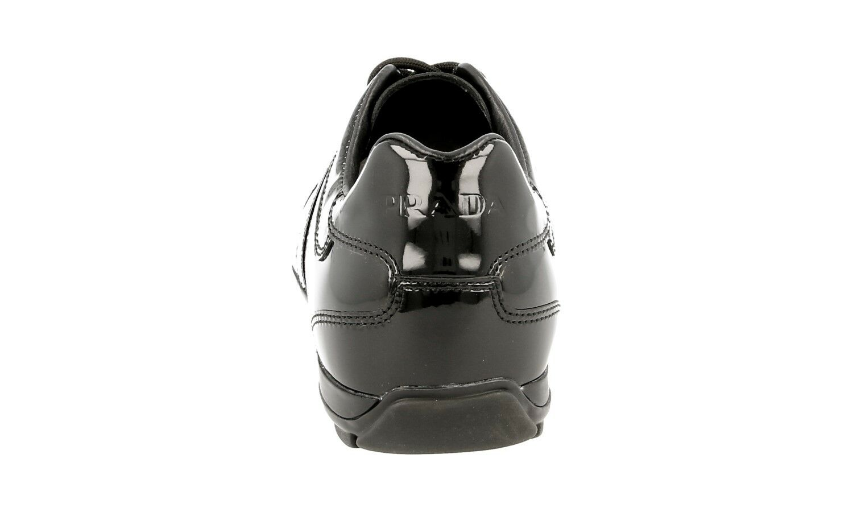 AUTHENTIC LUXURY PRADA PRADA PRADA baskets chaussures 3E4126 noir NEW US 7 EU 37 37,5 b9e281