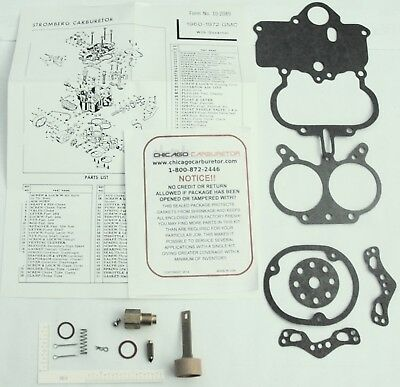"""1962-67 CARB KIT GMC CHEVY TRUCK STROMBERG WWC 2 BARREL 351 401 478/"""" ENGINES NEW"""