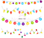 thumbnail 2 - Rainbow-Party-Lights-Christmas-Nail-Decal-Water-Transfer-Sticker-Tattoo