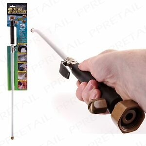 Pressure Washer Water Jet Hose Attachment Stretch Pipe Fan Jet Angled Nozzle Ebay