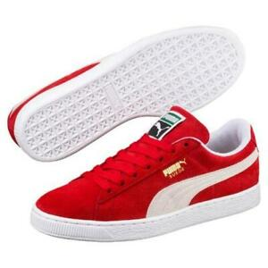 on sale 45d5b 4c476 Details about Puma, 352634-65, Suede Classic +, High Risk Red/White