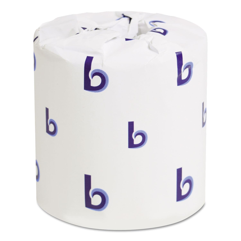 Boardwalk Two-Ply Toilet Tissue White 4 1 2 x 3 Sheet 500 Sheets Roll 96 Rolls