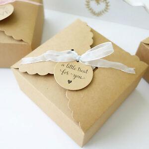 Image Is Loading 10x Wedding Favour Bo Cake Box Baby Shower