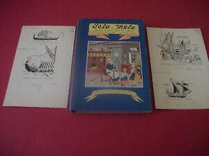 4-dessins-originaux-d-039-Henri-ISELIN-Pele-Mele-034-Un-peu-de-tout-pour-les-enfants-034