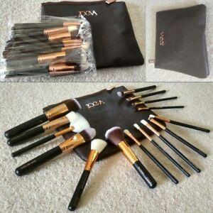 NEW-15pcs-Complete-Zoeva-Make-Up-Brush-Set-Bag-Brushes-Rose-Golden-UK-SELLER
