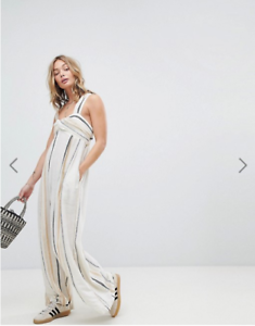 e2e8c4e7e715 Image is loading NWT-Free-People-Breezin-Through-Striped-Jumpsuit-Retail-