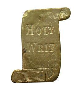 Holy Writ Scroll Gilded Symbol For Orange Order Collarette