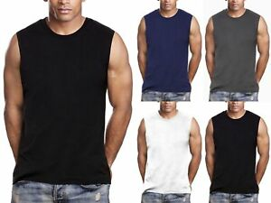 WHITE  MUSCLE T-SHIRT MENS HEAVY WEIGHT SLEEVELESS MUSCLE T-SHIRT 6PACK
