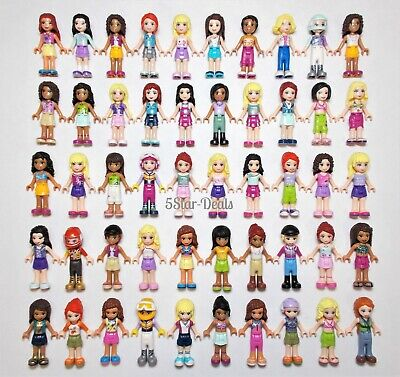 1 Boy /& Tons of Accessories Lego Minifigure Friends Lot F ~ 9 Different Girls