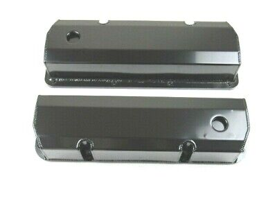 Ford 351C Tall Fabricated Aluminum Valve Cover Pair Black Anodized BPE-2335BA