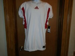 Adidas Men's Techfit Hyped Football Jersey White/Red Size Large ...