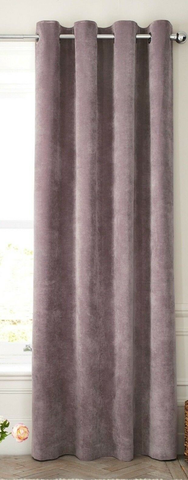 NEXT Mauve Mauve Mauve Soft Velour eyelet Thermal Lined Curtains 228cm(W)x229cm(L) (2) 2ba556