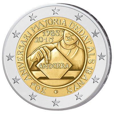 #RM# 2 EURO COMMEMORATIVE ANDORRA 2015 UNC - MAJORITÉ