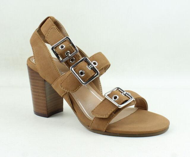 Vionic Womens Perk Carmel Saddle Ankle Strap Heels Size 9