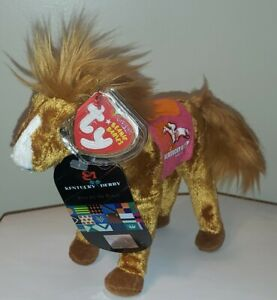 Ty Beanie Baby DERBY 134 PINK w/ EXTRA TAG Kentucky Derby Store Exclusive Horse