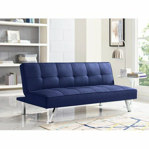 Astonishing Modern Sofa Bed Serta Futon Couch Convertible Sleeper Microfiber Seat Blue Interior Design Ideas Gentotryabchikinfo
