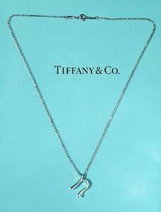 c0d19aa0f Tiffany & Co. E. Peretti S. Silver Alphabet Initial Letter N Pendant ...
