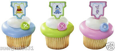 Disney Winnie the Pooh Babyshower Cupcake Picks 24pcs Baby Shower Cake Toppers