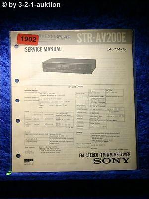 Sony Service Manual~STR-AV200//AV290 Receiver~Original~Repair