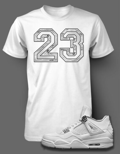 T Shirt to Match AIR JORDAN 4 PURE MONEY Shoe Pro Club Short Sleeve White Tee