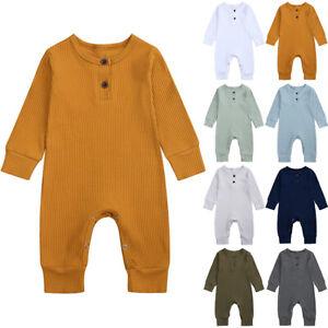 Newborn Infant Baby Girls Boys Solid Romper Jumpsuit+Pants Set KONF 0-24 Months Baby Girls Boys Winter Romper
