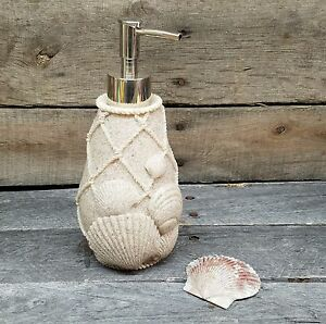 Image Is Loading Coastal Collection Soap Lotion Dispenser Beach Bathroom Sand